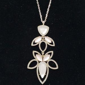 INC light pink on rose gold necklace